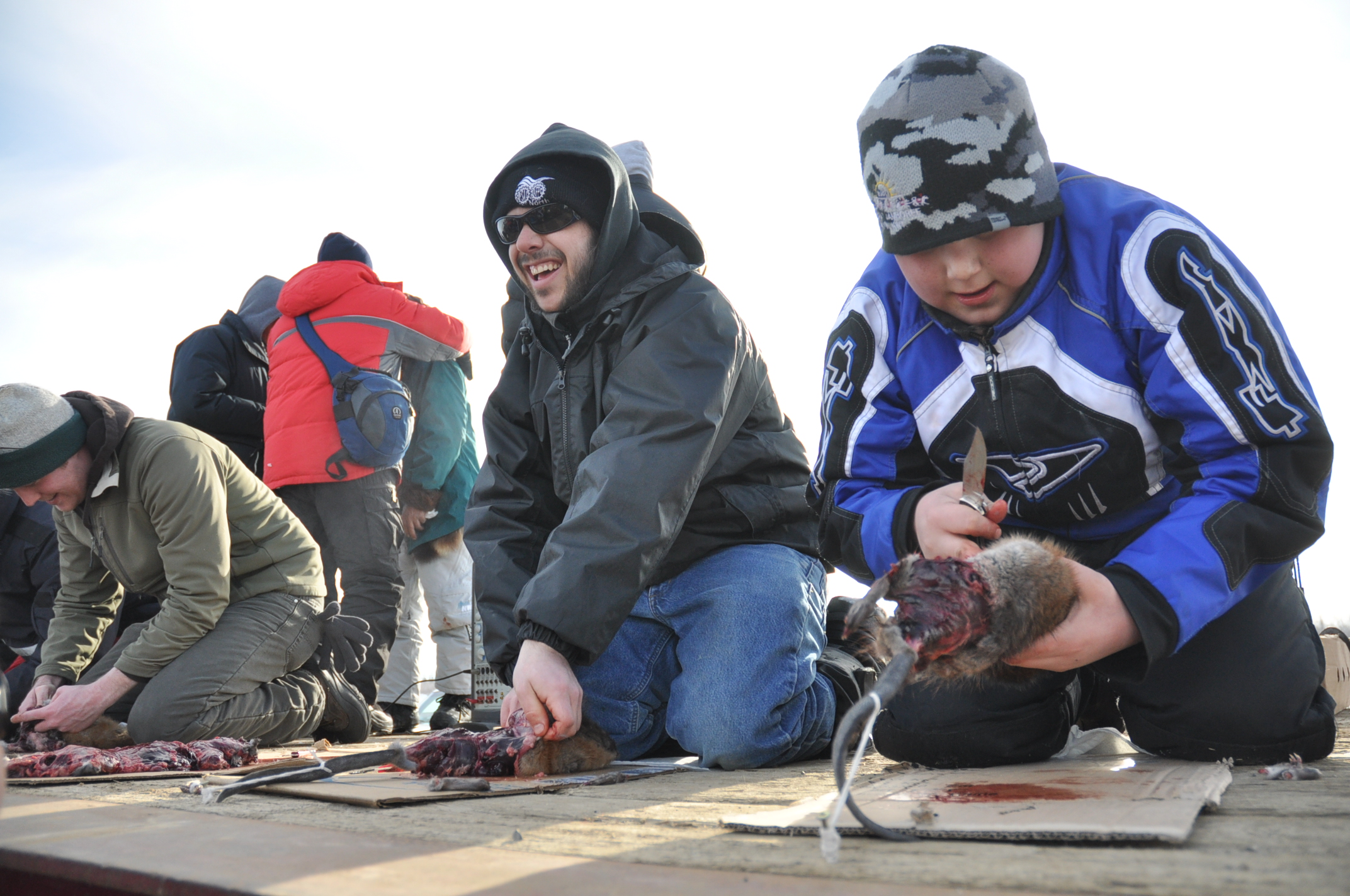 Man Skinning A Muskrat At The National Outdoor Show And World ...